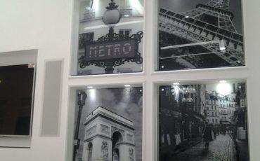 זכוכית מודפסת עם הדפס של פריז