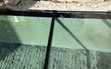 רצפת זכוכית, שקופה, ריצוף זכוכית